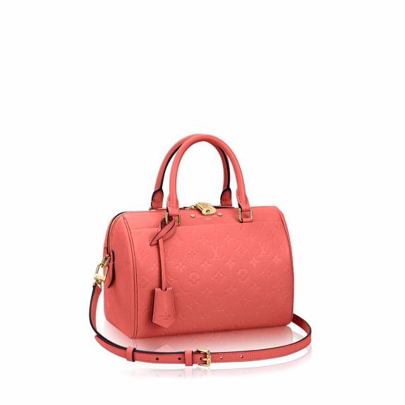 Louis Vuitton Blossom Monogram Empreinte Speedy Bandouliere 25 Bag ... 164b98cb01b