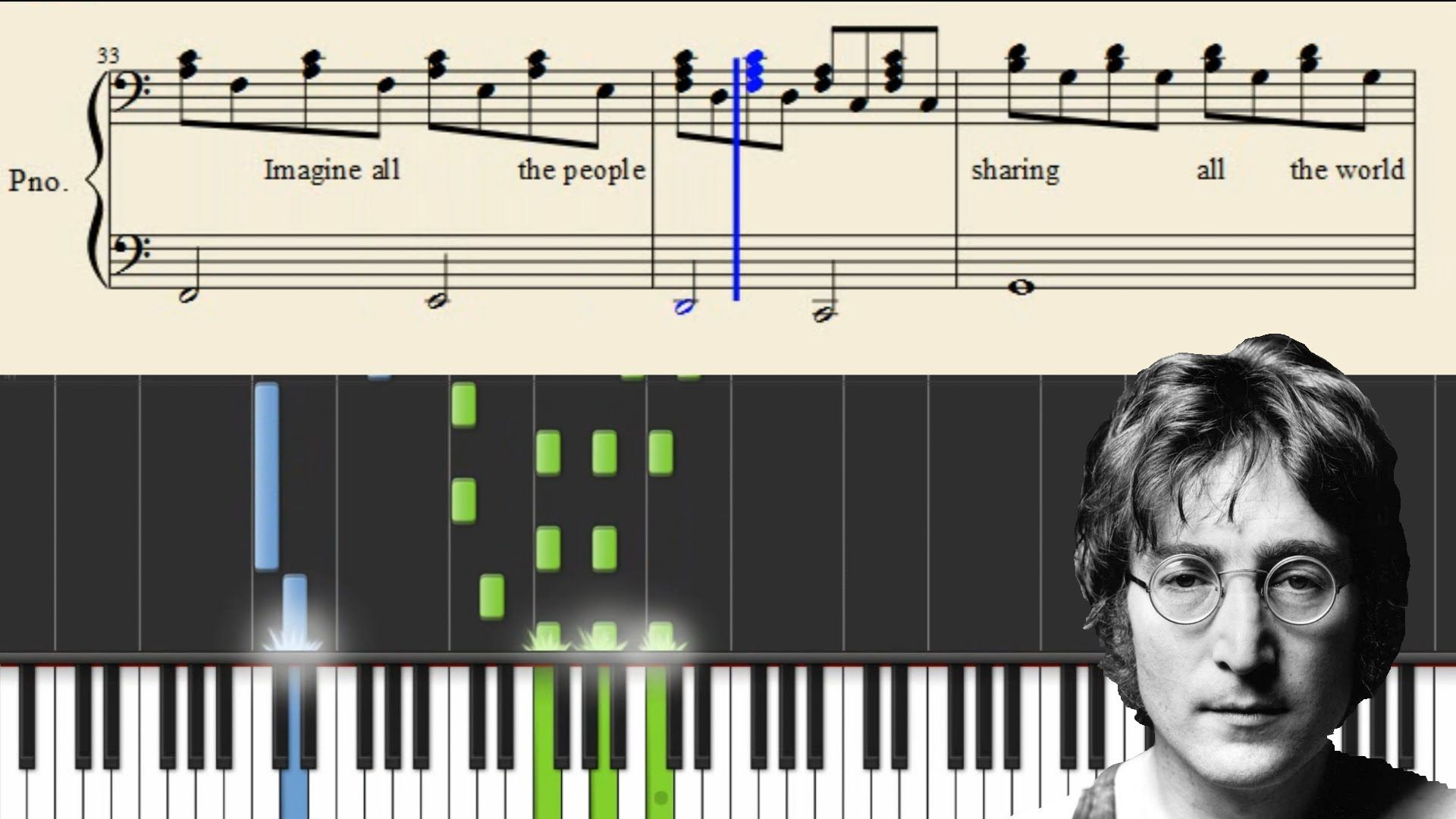 John Lennon Imagine Piano Tutorial Sheets Imagine John