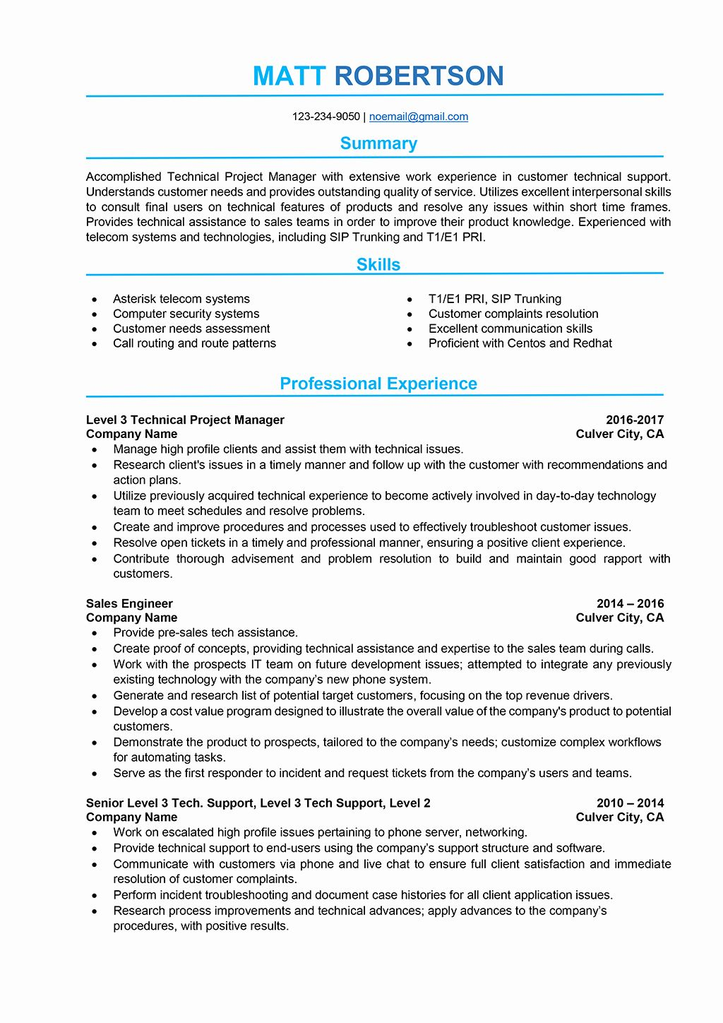 23 It Project Manager Resume Examples in 2020 Project