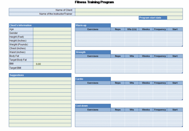 Fitness Program Template from i.pinimg.com