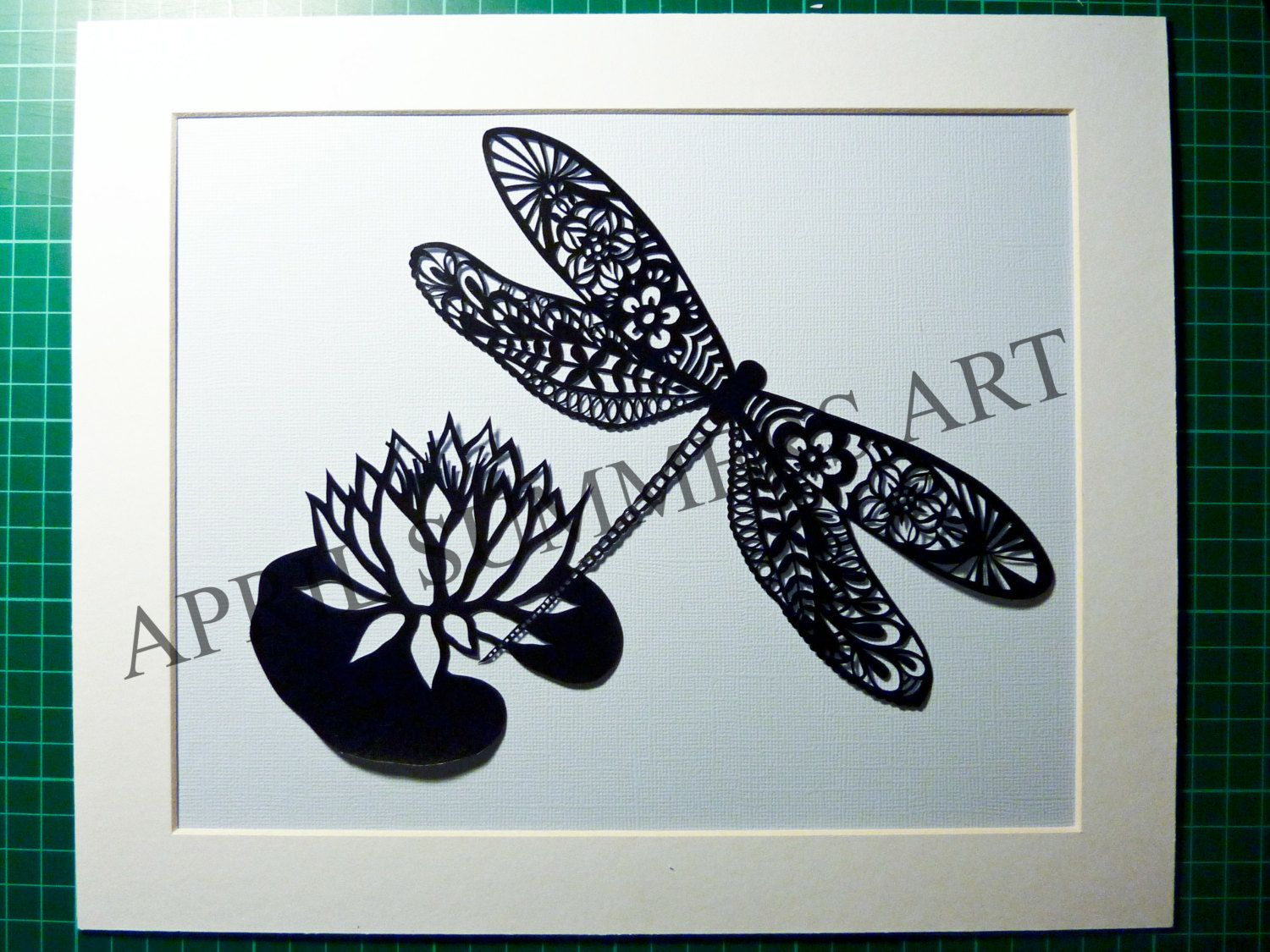 COMMERCIAL Mr Dragonfly DIY Papercutting File by AprilSummersArt
