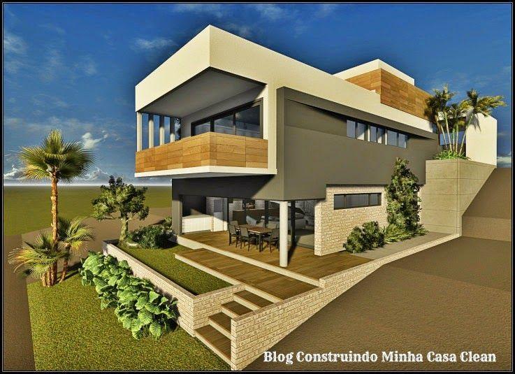 Fachadas de casas em terrenos em declive como construir - Terreno con casa ...