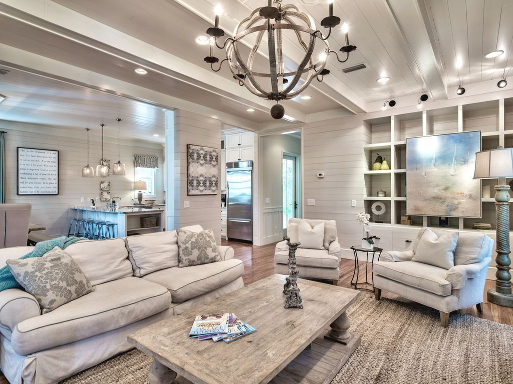 Open concept living at it's finests Coastal decorating