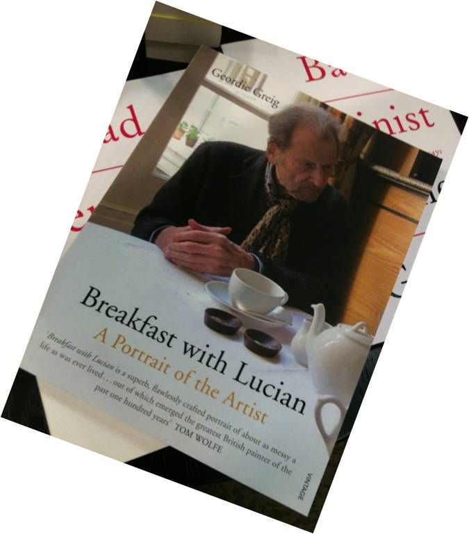 'Breakfast with Lucian' - great book cover worthy of the artist