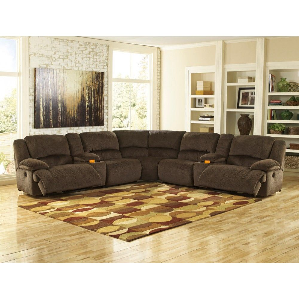 Ashley Furniture Toletta Sectional In Chocolate Space Saving Sectionals Pinterest Living