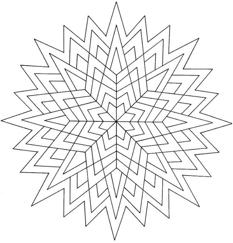 Dover Creative Haven Geometric Star Designs Coloring Page 4 | Adult ...