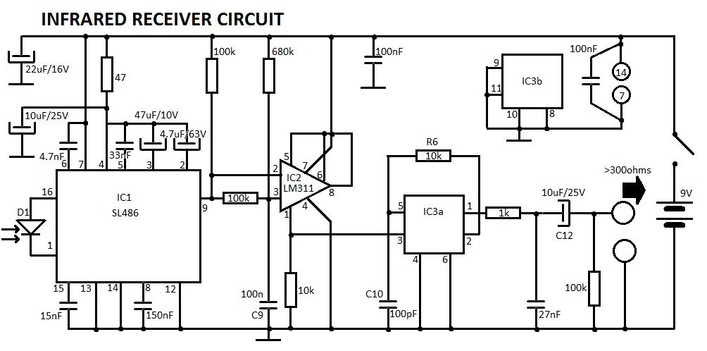 ir music transmitter circuit schematic