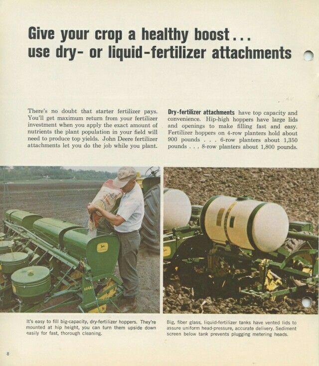 1966 John Deere Corn Planters Brochure John Deere Pinterest