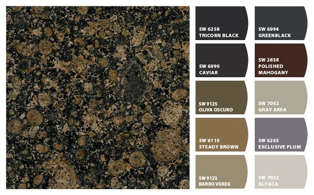 paint colors with baltic brown granite   homespirations - kitchen