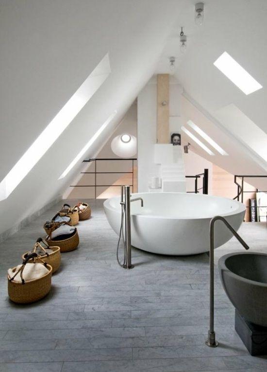 Wohnideen Badezimmer Badewanne modern   attic home ...