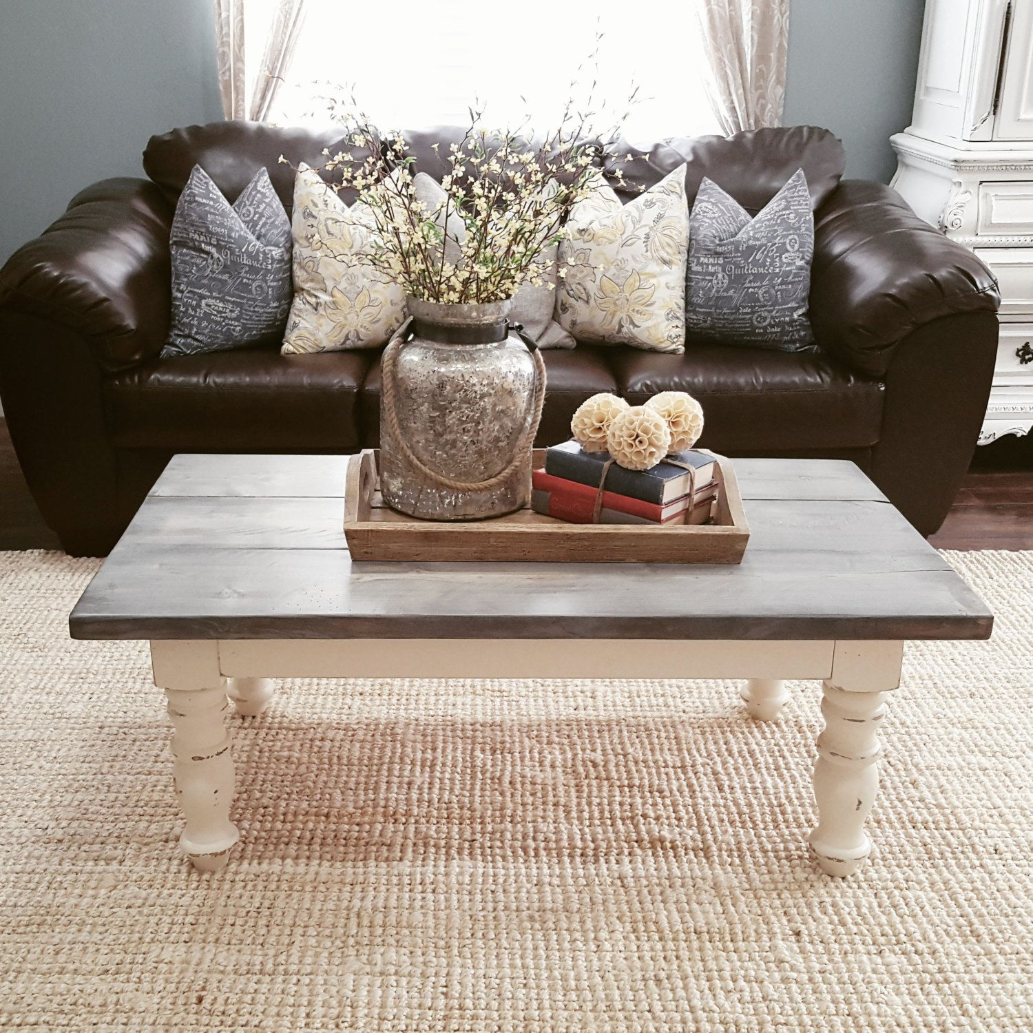 Handmade Rustic Coffee Table Table Decor Living Room Decorating