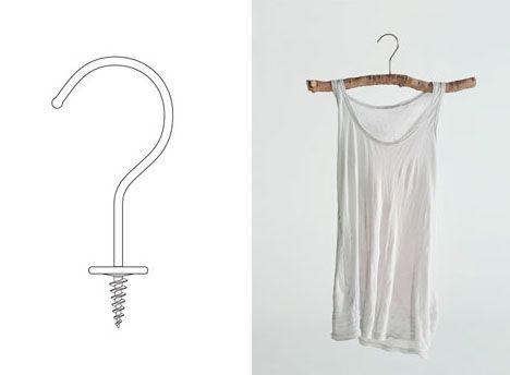 Cheap Metal Hooks Turn Sticks To Diy Wooden Coat Hangers Designs
