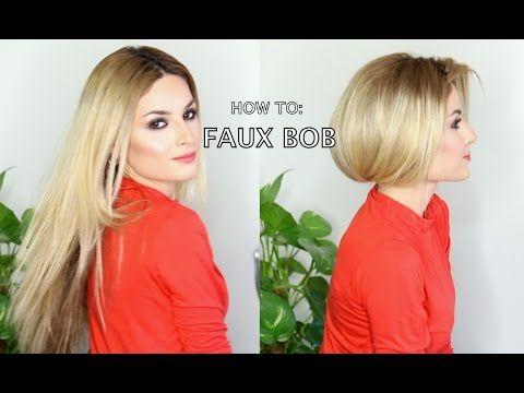 How To Fake Short Hair Faux Bob Long Hair Styles Short Hair Styles Fake Short Hair