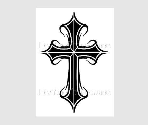 Cross Pattern Cross Silhouette Cross Stitch by NewYorkNeedleworks, $8.50
