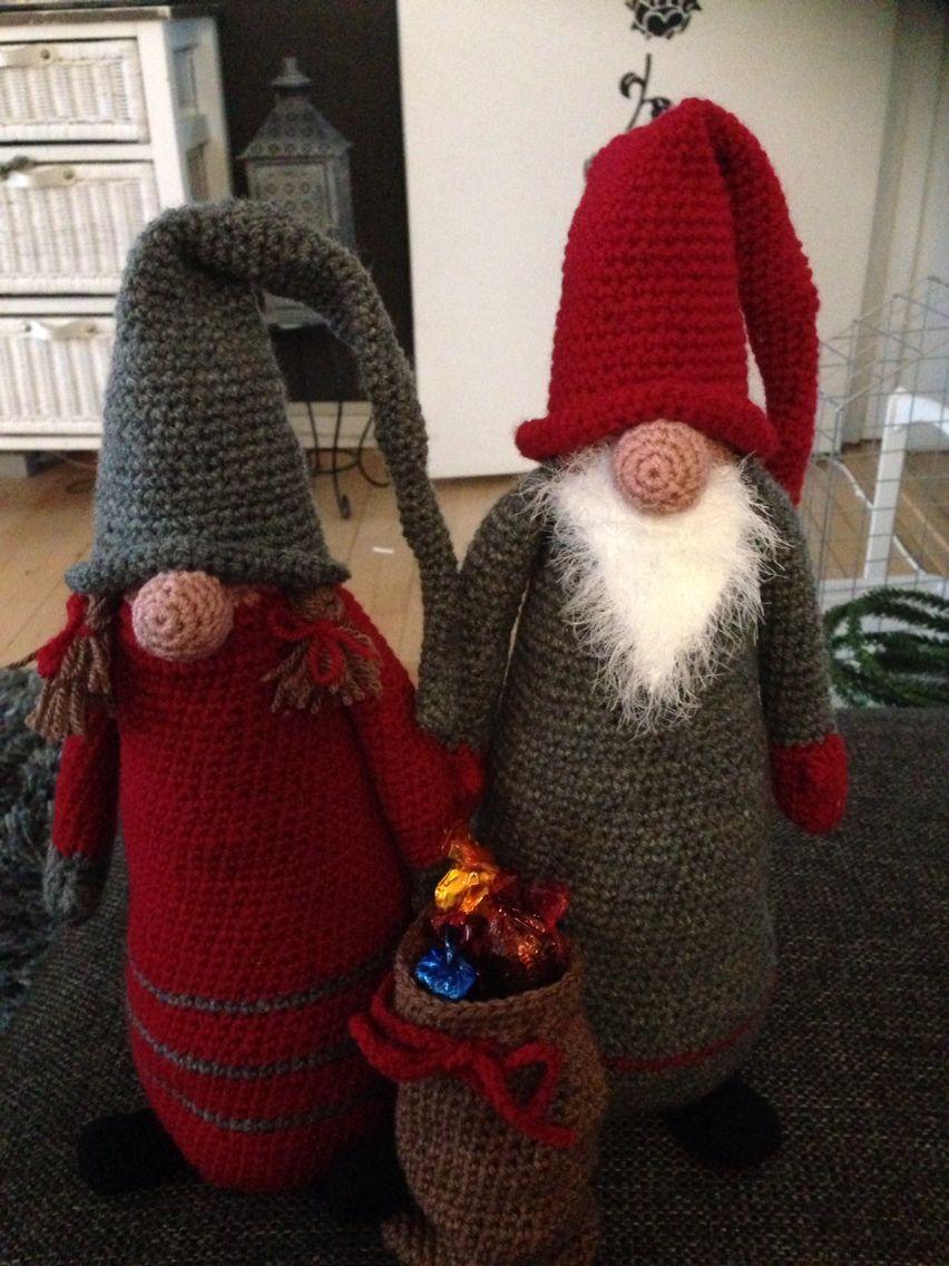 Hr. Og fru. Nisse   Crochet .   Pinterest   Navidad, Navidad 2017 y ...