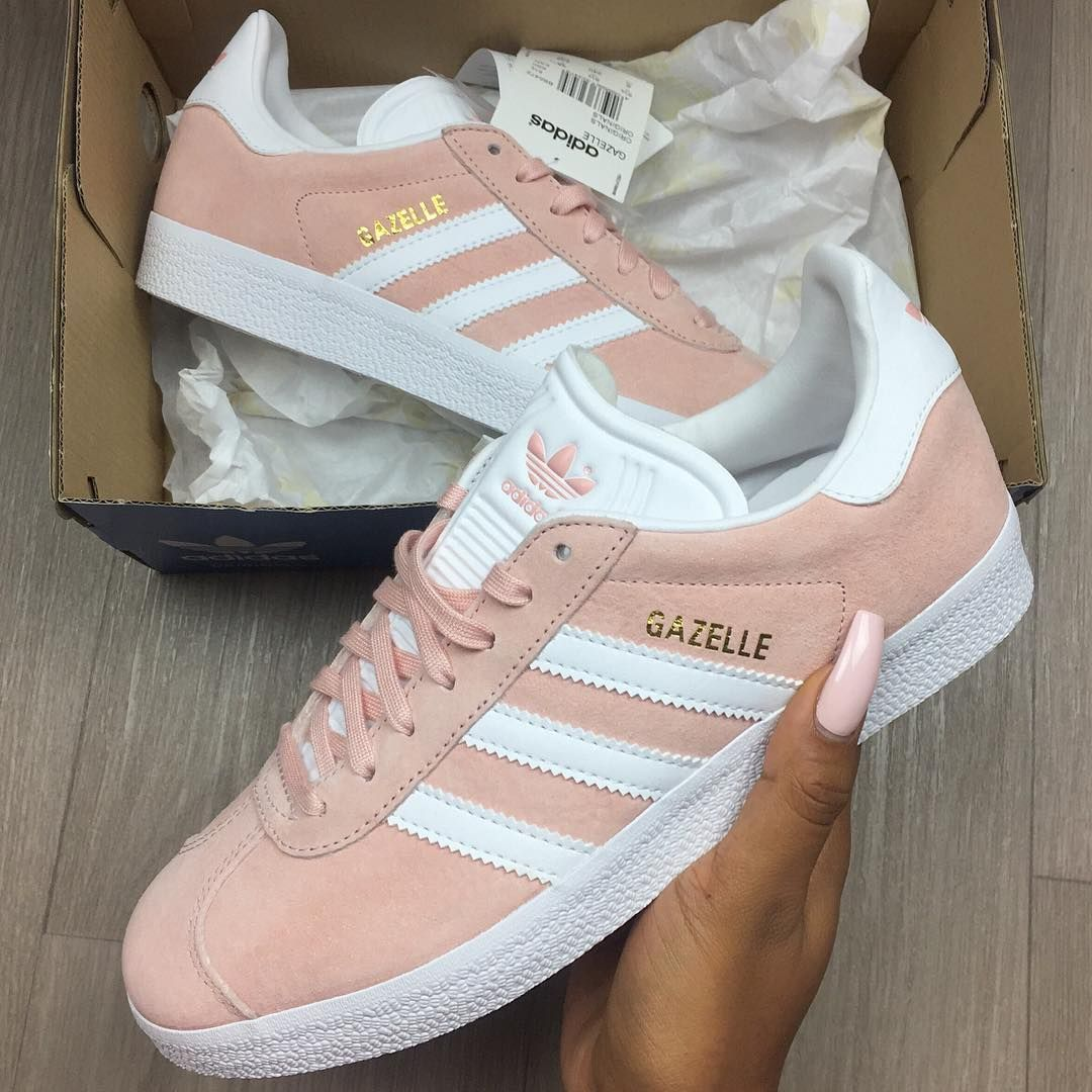 GAZELLE - Baskets basses - vapour pink/white/gold metallic | Adidas gazelle,  Adidas and Lights