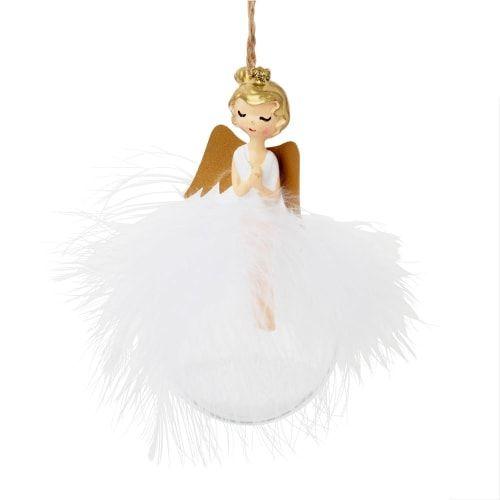 Boule de Noël ange et plumes #bouledenoel