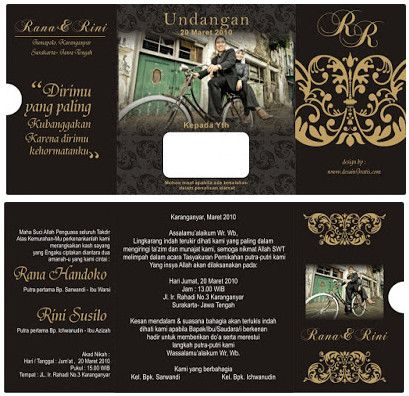 Desain Undangan Pernikahan Wedding Invitations Diy Vintage Diy Wedding Invitations Templates Wedding Invitation Templates