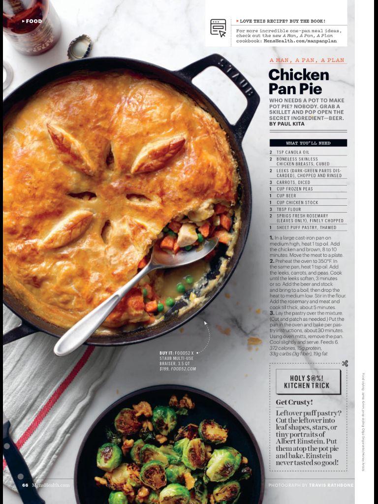Chicken pan pie from mens health janfeb 2018 read it on the chicken pan pie from mens health janfeb 2018 read it forumfinder Choice Image