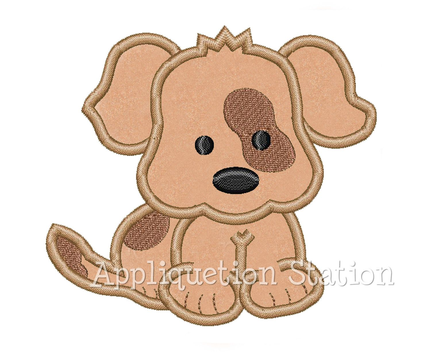 Applique Baby Puppy Dog Patch Over Eye Spot Applique Machine