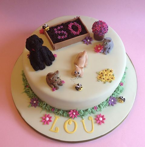 Wonderful birthday cake made for the biscuiteer by Vintage House