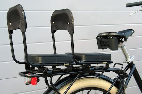 Special Rear Carrier Can Fit Two Child Seats Baby Bike Child