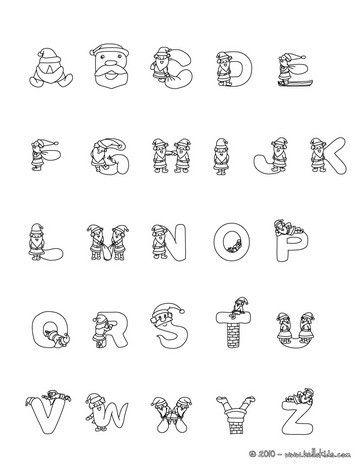 Color Online  Xmas    Alphabet Letters Christmas