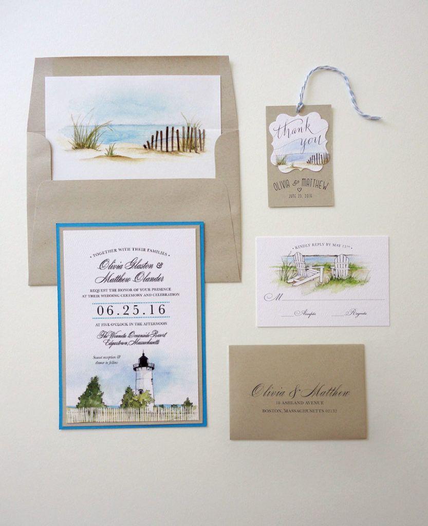 Edgartown Lighthouse Wedding Invitations Martha S Vineyard Cape