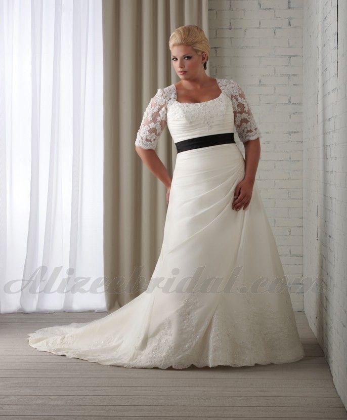 square-chapel-train-satin-a-line-plus-size-wedding-dress-wbo0005-a.jpg (686×830)