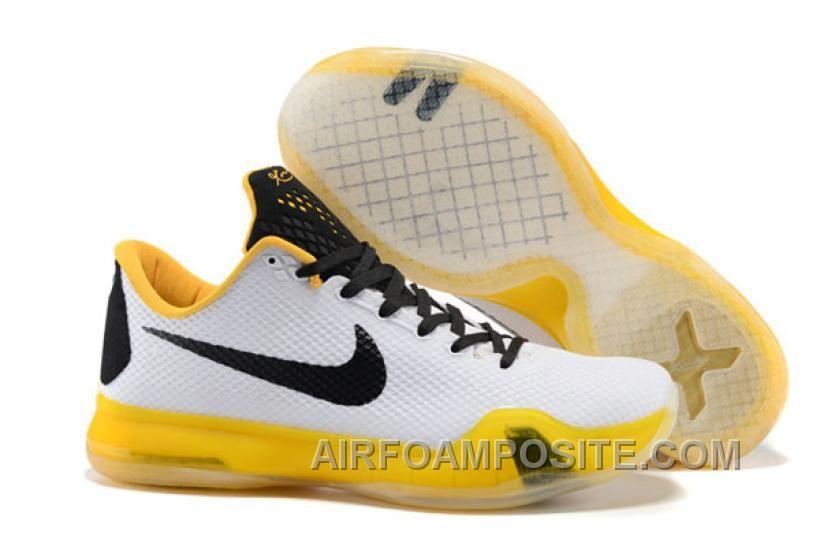 Nike Kobe X 10 White Gold New