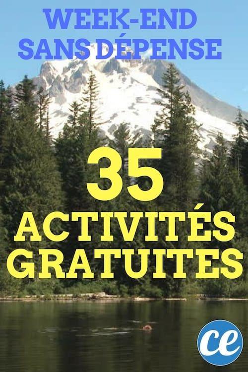 35 Activites Gratuites A Faire Pendant Un Weekend Sans Depense Activite Gratuite Activite Et Idee Sortie Couple