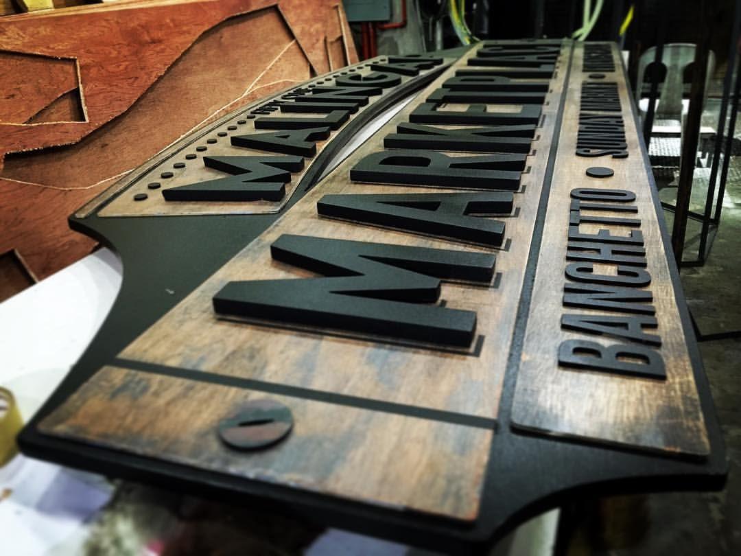 Pin on Plasma cut wood combo signage