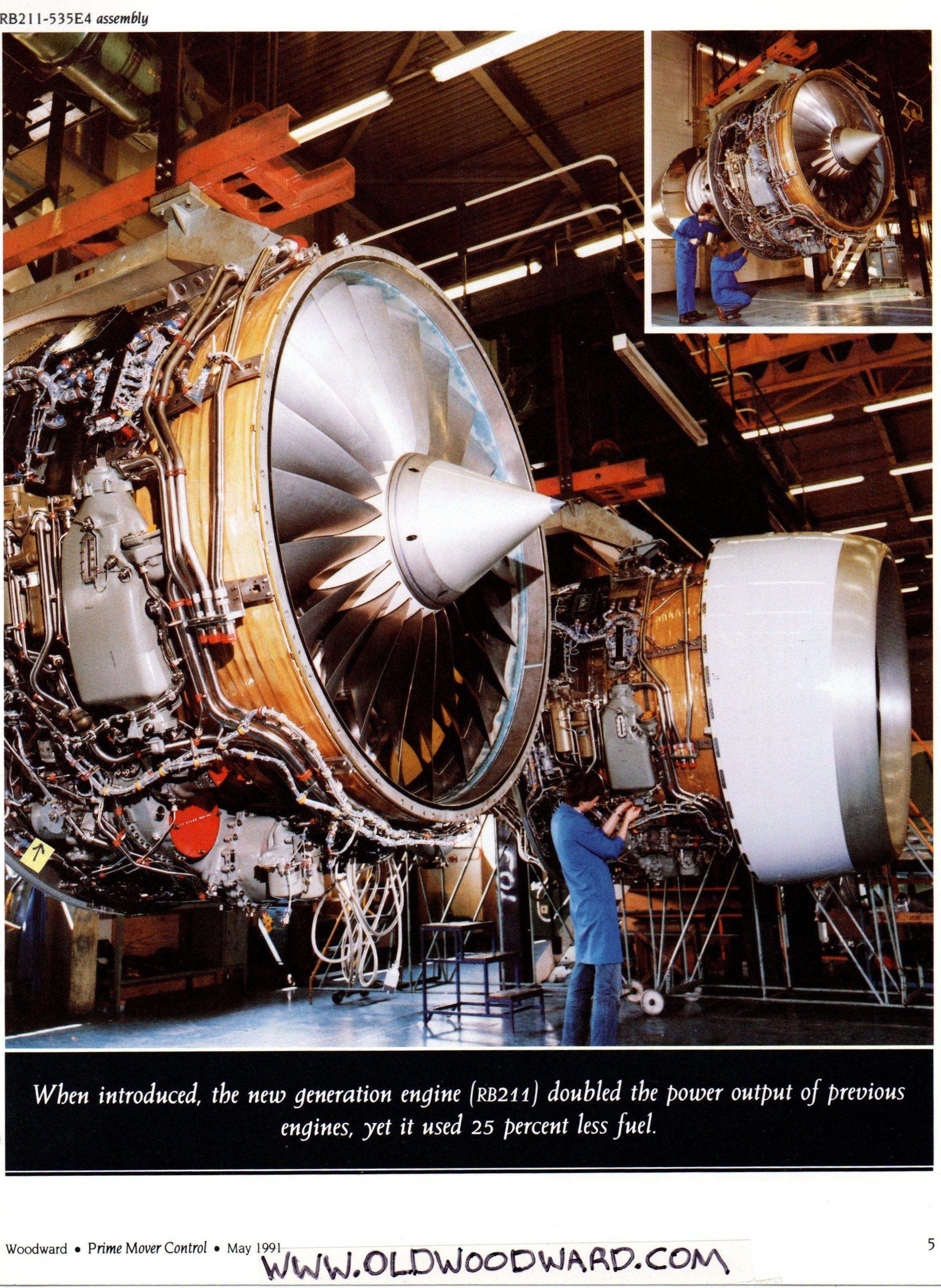 Rolls Royce RB 211 aircraft gas turbine history