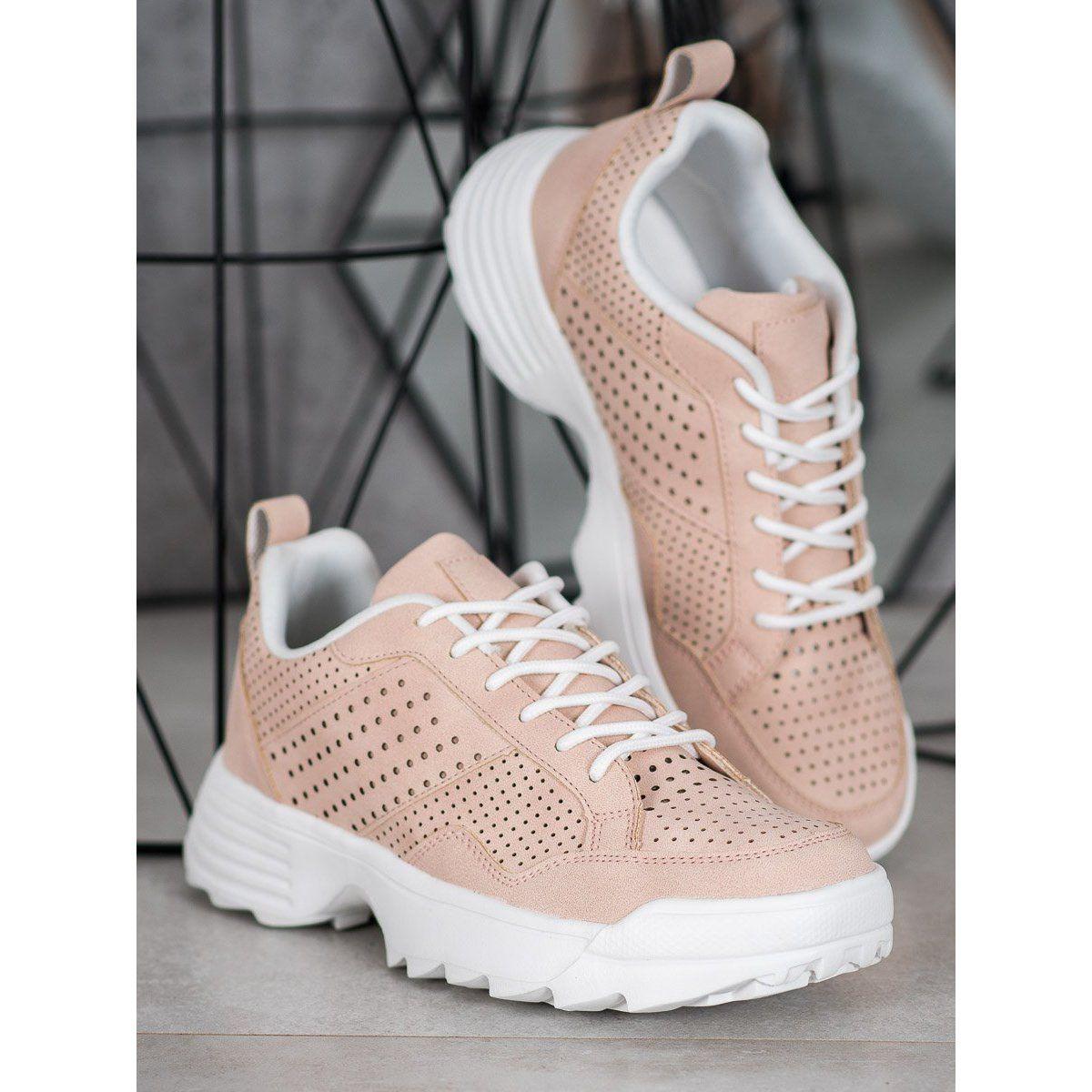 Kylie Lekkie Azurowe Sneakersy Rozowe Sneakers Types Of Heels Sneakers Nike