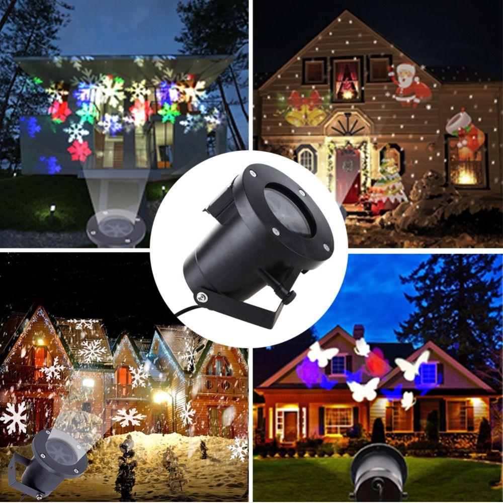 Laser Projektor Lampe Weihnachten Weihnachten Snow Flake Licht Wasserdichte Led Buhne Rampenlicht Wand Garten Rasen Snowflake Lights Wall Garden Waterproof Led