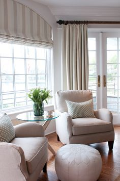 Crescent Beach  Master Bedroom Sitting Area   Nightingale Design