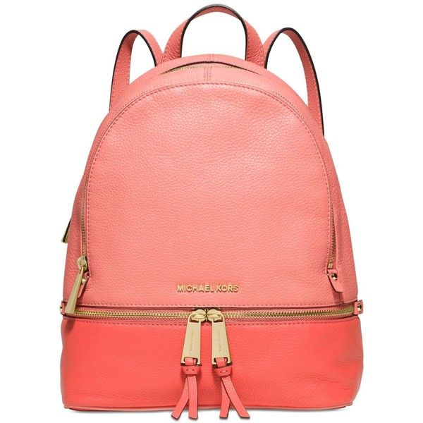 35d9d3958828 Michael Michael Kors Rhea Zip Colorblock Medium Backpack ( 298) ❤ liked on Polyvore  featuring bags