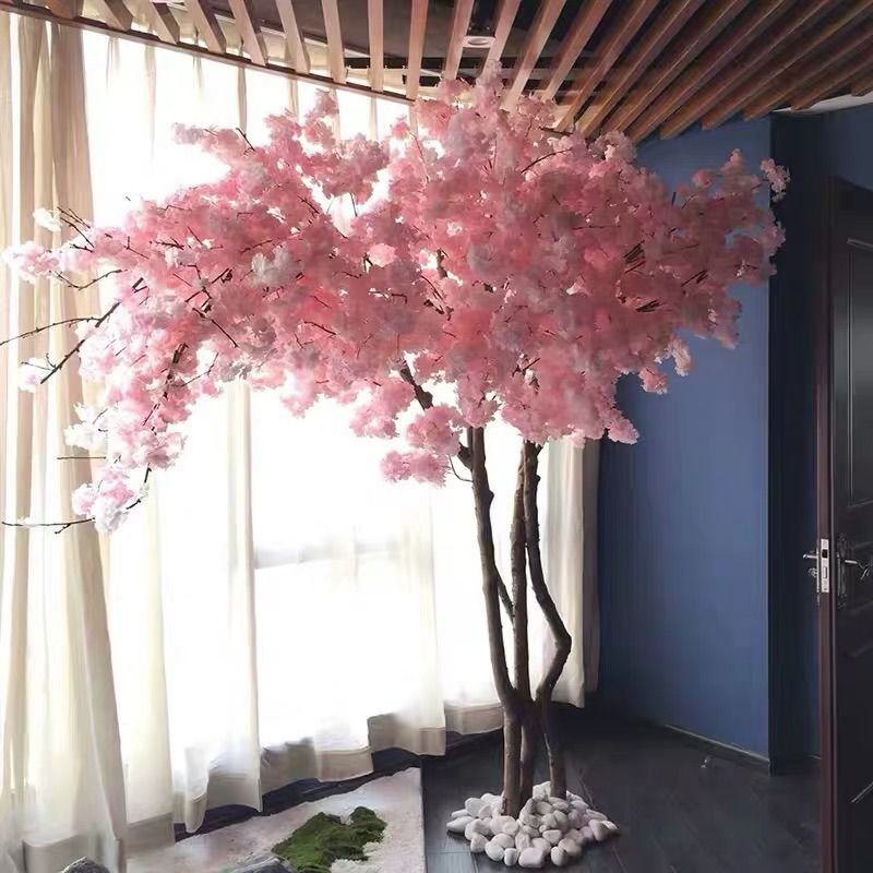 Natural Looking Cherry Tree Artificial For Interior Decor Artificial Cherry Blossom Tree Cherry Blossom Tree Blossom Trees