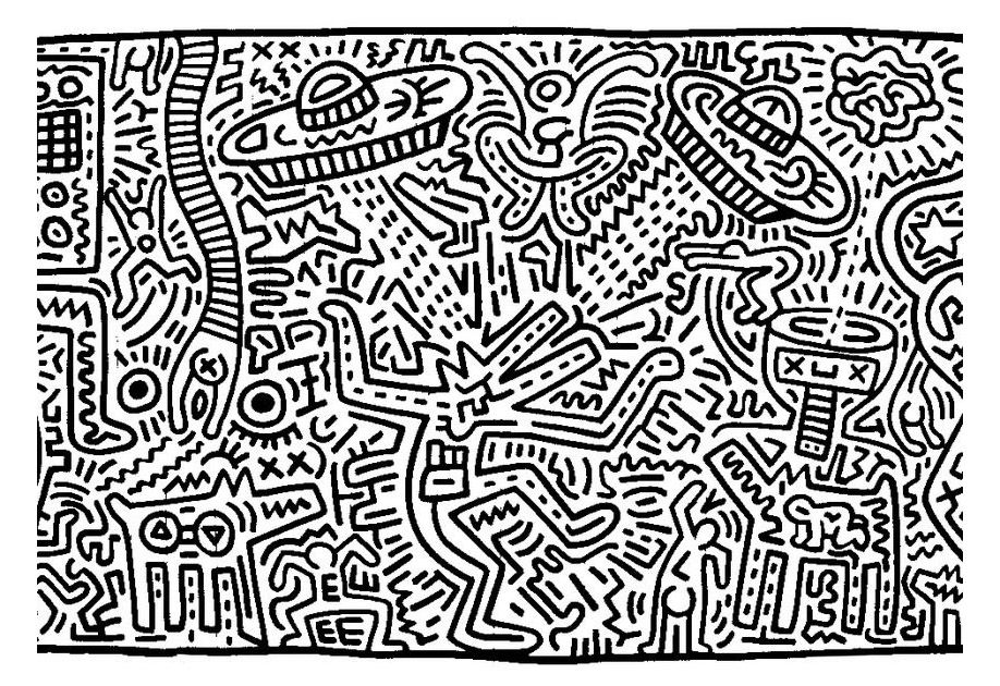 Free coloring page coloring-adult-keith-haring-8. Keith Haring ...