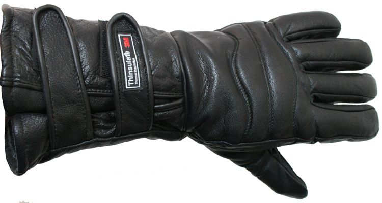 Motorcycle Gloves Close out Winter Riding Leather Biker