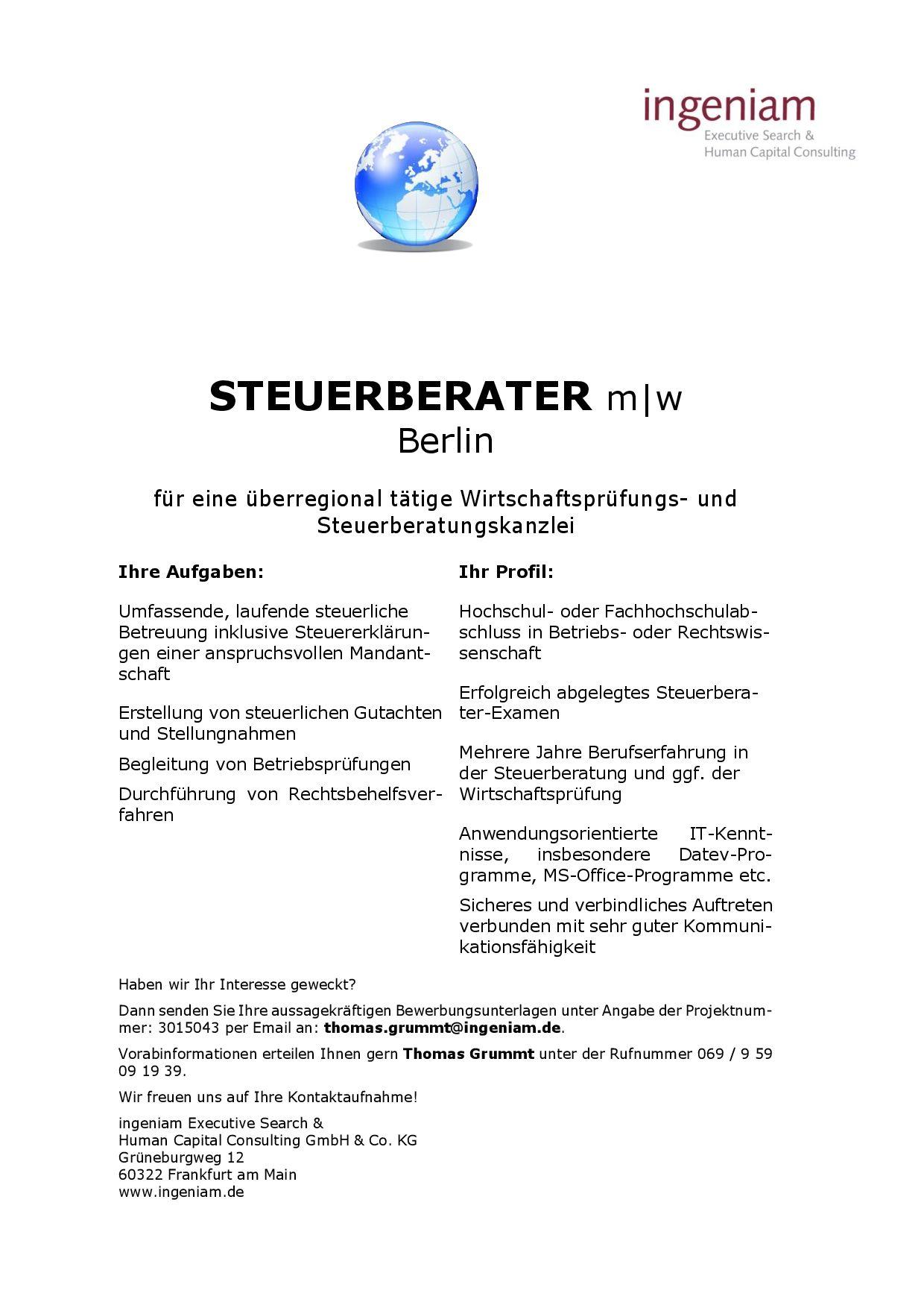 Http Www Kanzlei Job De Files 3015043 20berlin Steuerberater Jpg Mit Bildern Job Berlin Hochschule