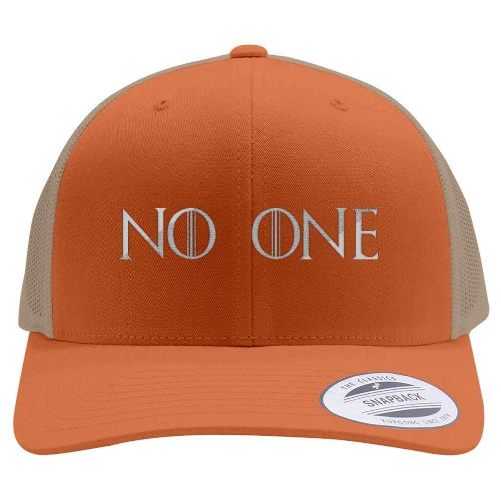 No One Retro Embroidered Trucker Hat