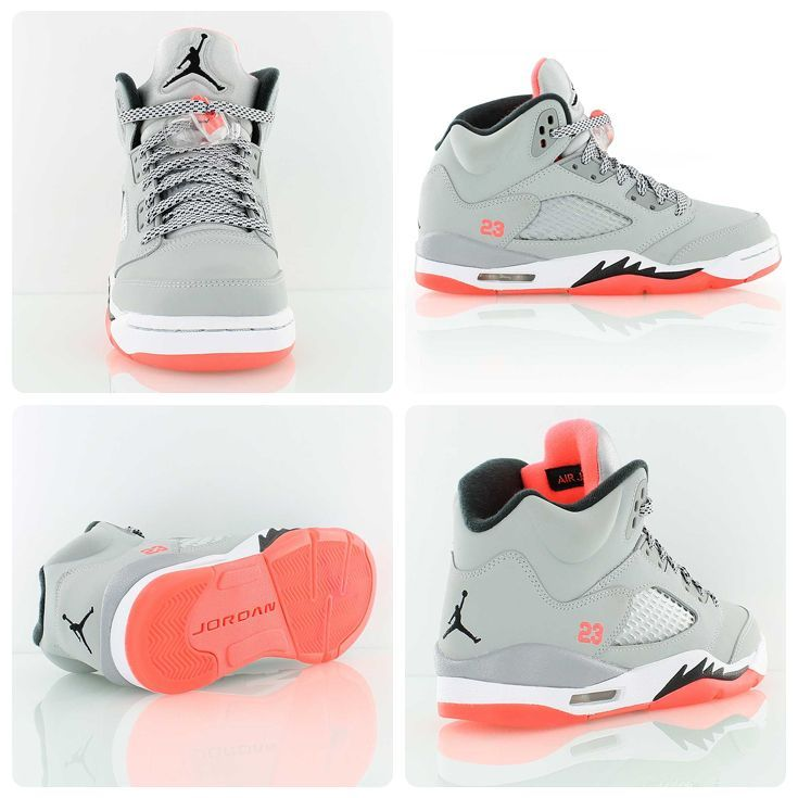 00992b8d538e57 Air Jordan 5 Retro GG Hot Lava. Jordan is heating up for summer. A ladies  exclusive featuring Wolf Grey and Hot Lava.