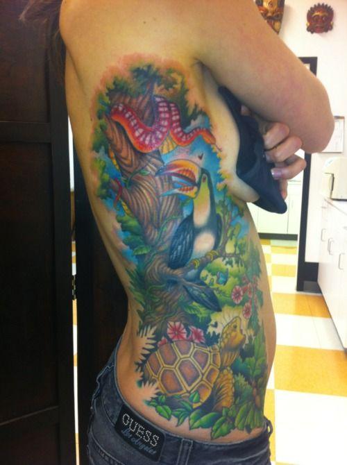 Ridiculous Rainforest Side Tattoo Tattoo Inspiration