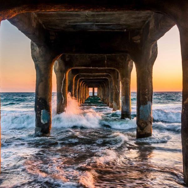 Manhattan Beach Pier, California via @travelswithtracy