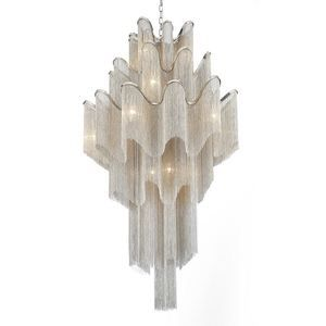 Photo of Crystal World 17 Light Down Chandelier with Chrome finish – …