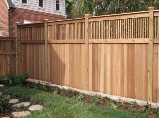 Privacy Fence Ideas Home Interior Put Upper Slats As Close Together As You Like Wood Fence Design Backyard Fences Wood Privacy Fence
