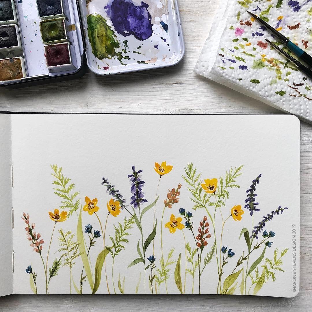 Pretty Wildflowers In My Moleskine Watercolour Journal Using My