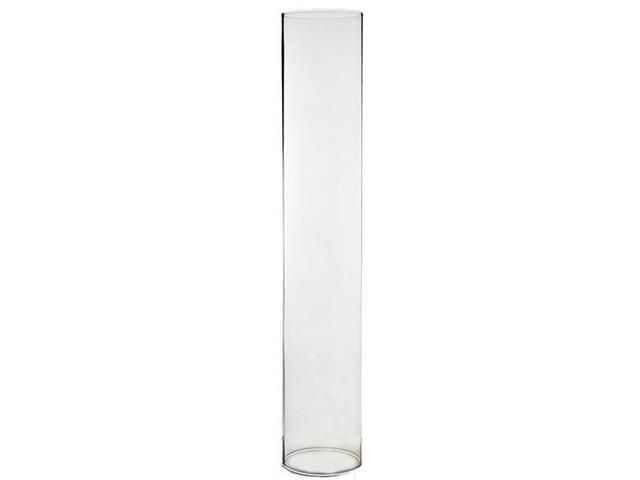 """Newegg.Com - CYS Set of 4 Glass Hurricane Candle Shades / Holders - H-14"""", Open D-2.5"""""""