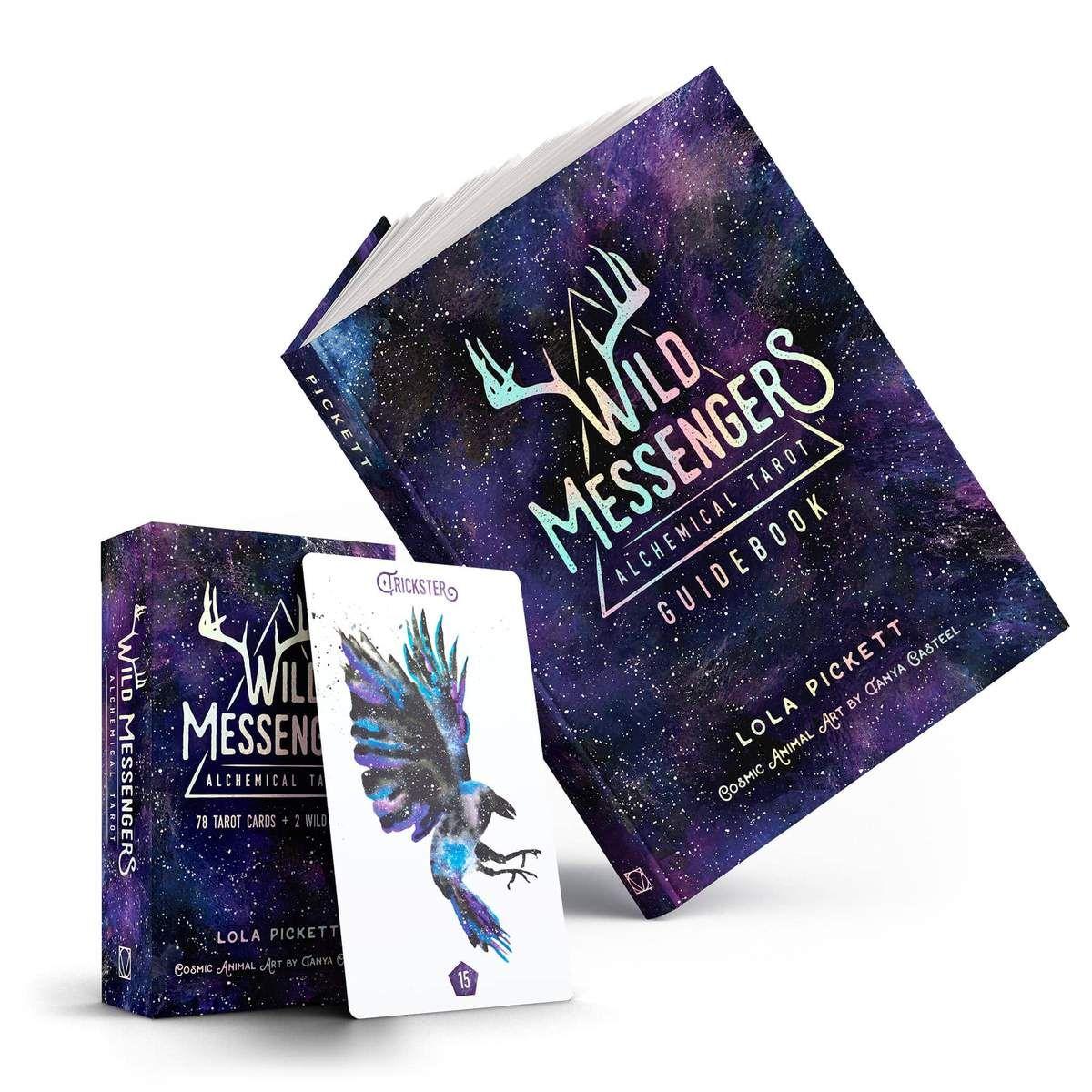 Wild Messengers Alchemical Tarot Deck Guidebook Set Tarot Card Decks Animal Tarot Cards Tarot Decks